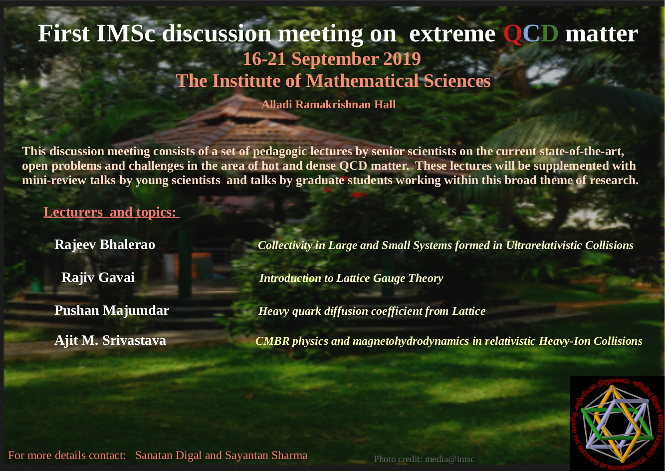 Conferences | The Institute of Mathematical Sciences